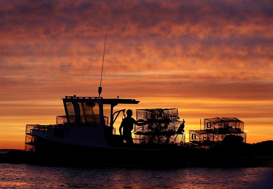 APTOPIX Red Sky at Dawn