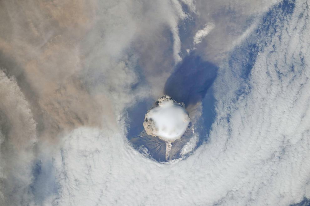 fotos tierra orbita cosmos volcan
