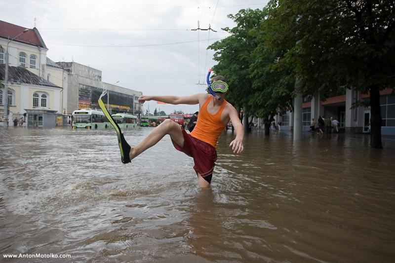 Новый потоп в Минске 24 июля 2009 года