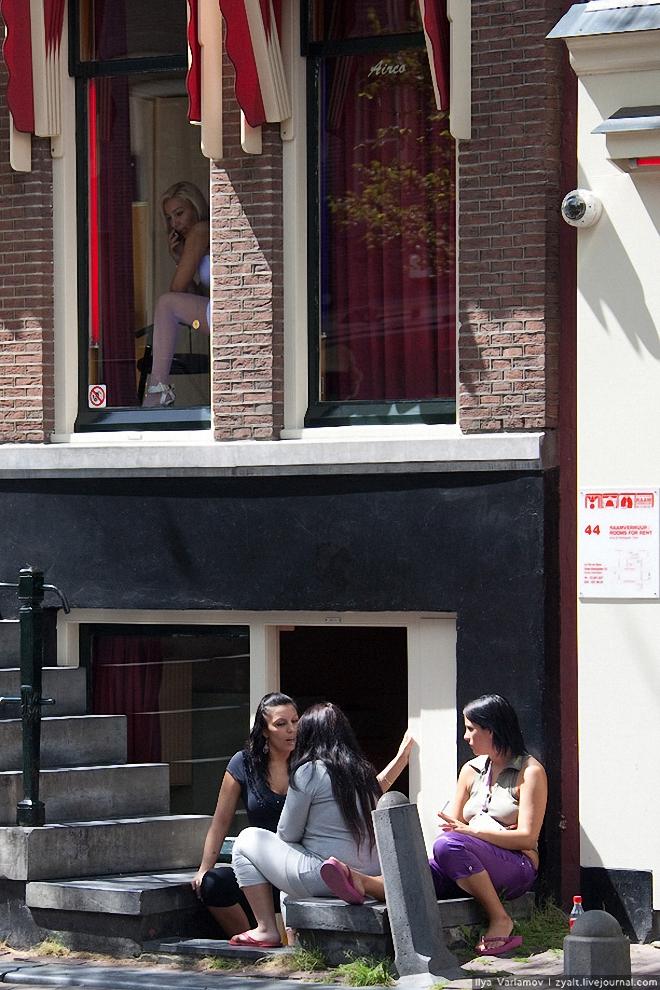 11) В 2006 году городские власти решили ограничить число проституток в городе и начали закрывать дома терпимости, открывая вместо них торговые центры и выставочные залы. Профсоюз проституток же в попытках борьбы с этим организует «Дни открытых дверей» в районах Красных фонарей, где рассказывает свою историю и демонстрирует уровень обустройства кварталов.