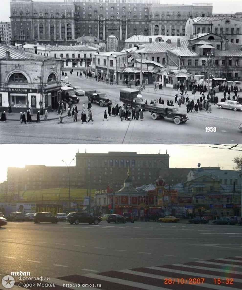 24) Таганская площадь. Вид на дом № 38 по Гончарной улице. 1958-2007 гг.