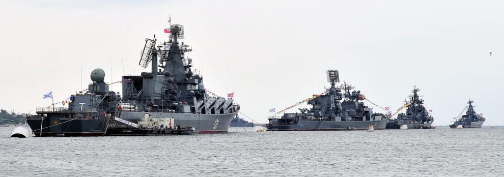 25) Главные корабли ЧФ РФ. Вид сзади.