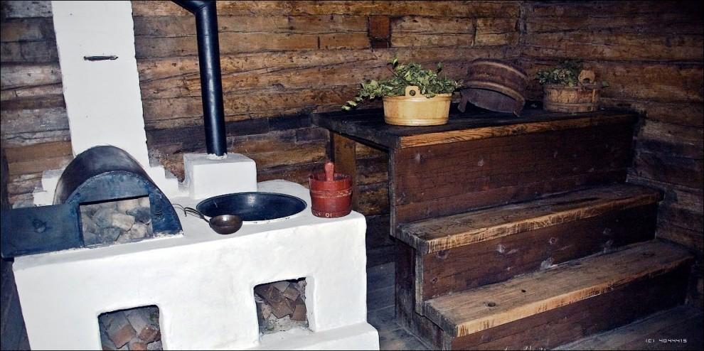 27) Русская баня.
