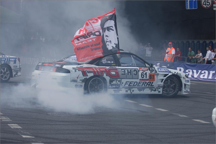 Автомобиль Тимофея Кошарного - безоговорочного лидера по итогам последнего Чемпионата по Дрифтингу.