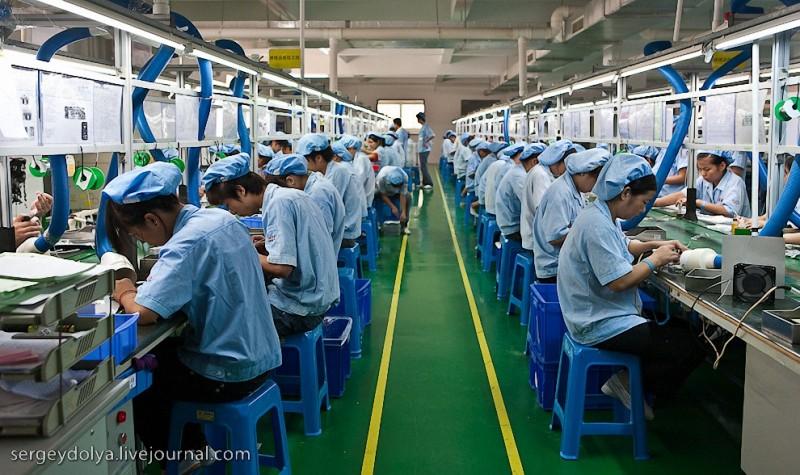 Рабочие на китайских заводах. Часть 2.