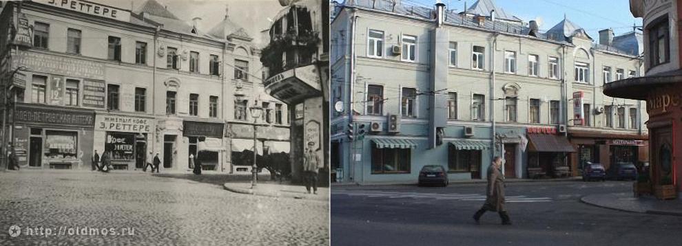 39) Площадь Петровские ворота. Вид с улицы Петровка. 1913 год.