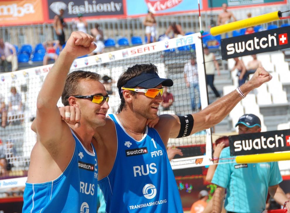 Этот матч, третий в групповом этапе ребята выиграли у бразильцев Bruno - Maciel.
