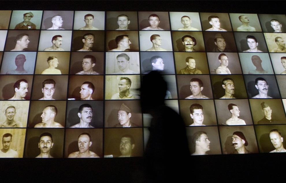 Посетитель на фоне инсталляции в Венгерском павильоне на вернисаже международной художественной выставки  53-ей Венецианской биеннале, 3 июня 2009. (REUTERS/Tony Gentile)