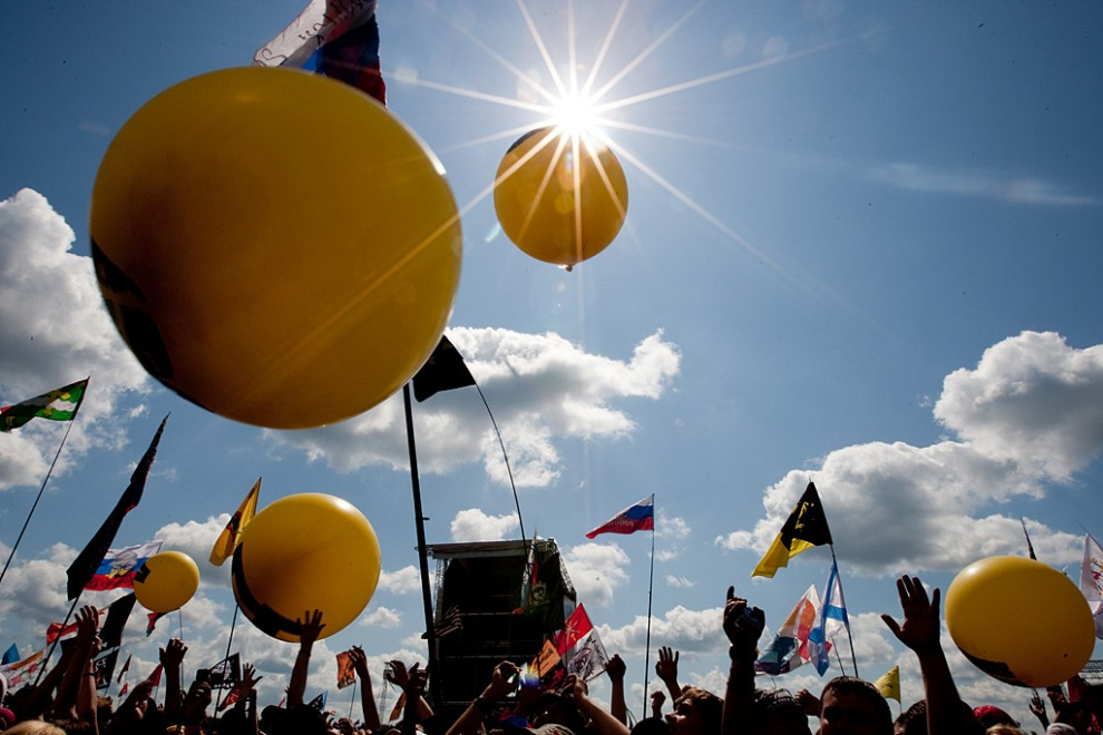 На второй день фестиваля погода окончательно наладилась.