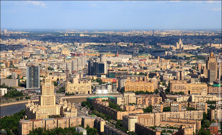 1) Новый Арбат и Кутузовский проспект, гостиница Украина.