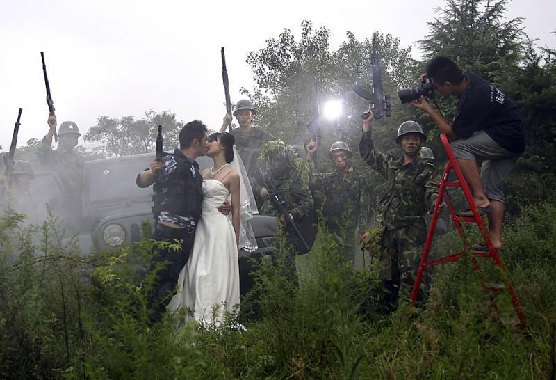 China Military Wedding Photos