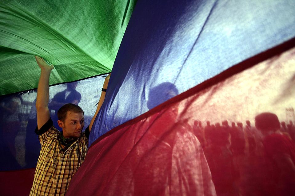 12) Участники гей-парада в Мумбаи. (Dhiraj Singh/Associated Press)