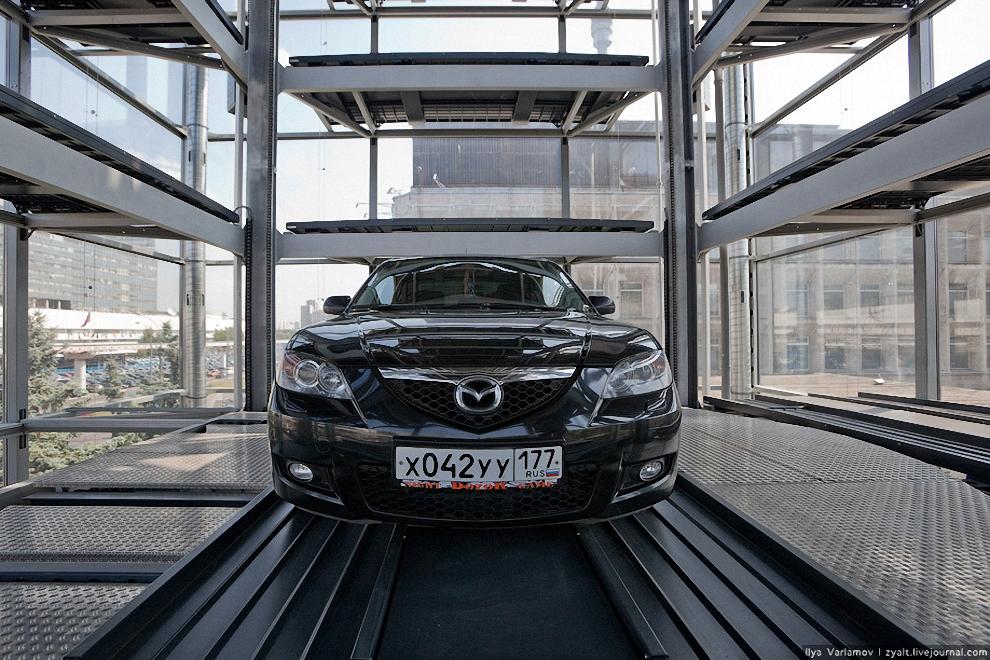 9) Расстановка автомобилей осуществляется на 4 стороны. Время подъема-спуска одного автомобиля не превышает 50-и секунд.