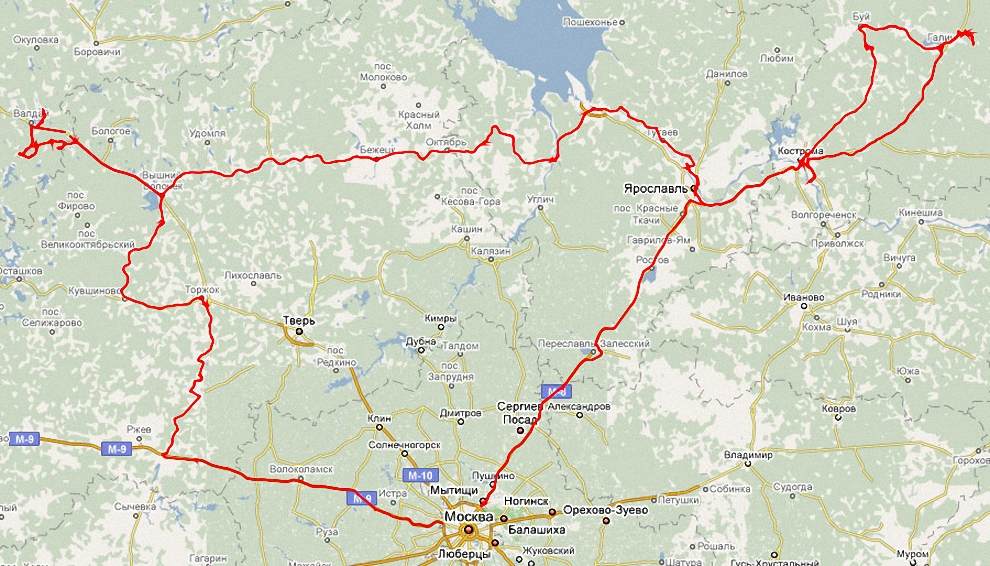 1) Трек маршрута