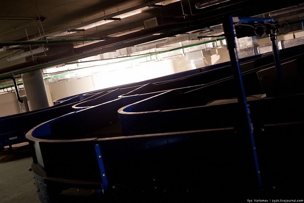 21) Сюда будет стекаться и сортироваться багаж транзитных пассажиров со всех терминалов.