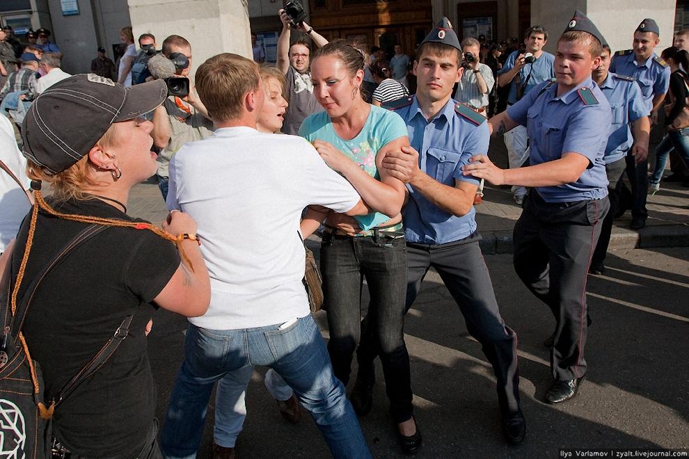 28) Они тоже кричали про свободу слова и про фашистов.