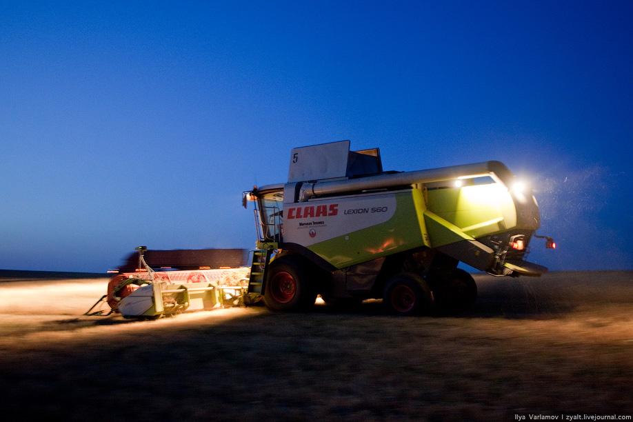 В Казахстане уборка урожая идет днем и ночью