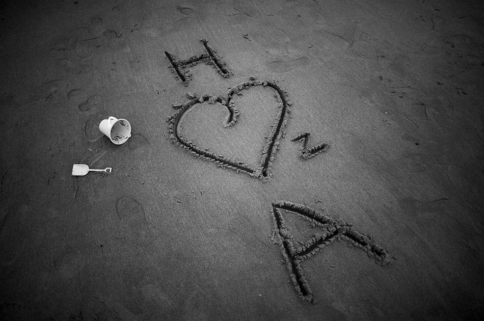 3. Романтическое послание на песке пляжа Блэкпул в одноименном городе, Англия. (Christopher Furlong, Getty Images)
