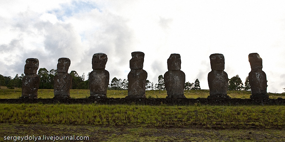 """15) История гласит, что прибыли они с островов Французской Полинезии в 300 году нашей эры. Расцвет острова пришелся на 15 век, когда его население насчитывало 12 000 человек. Все население острова состояло из множеств кланов и племен, но всех их делили на 2 разных народа: """"длинноухие"""" и """"короткоухие""""."""