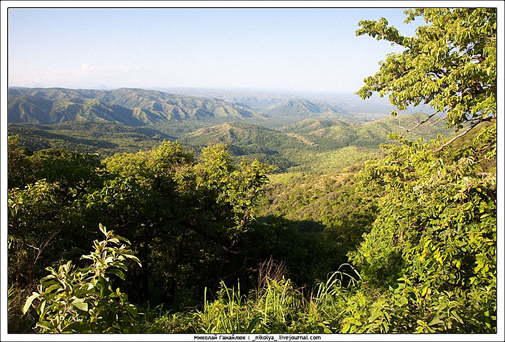 3) Ландшафт парка довольно интересен. Открытые саванны занимают только 9% территории парка, все остальное это реки и прибрежные лес, болота Маго, озера, буш, холмы. Климат довольно засушливый.
