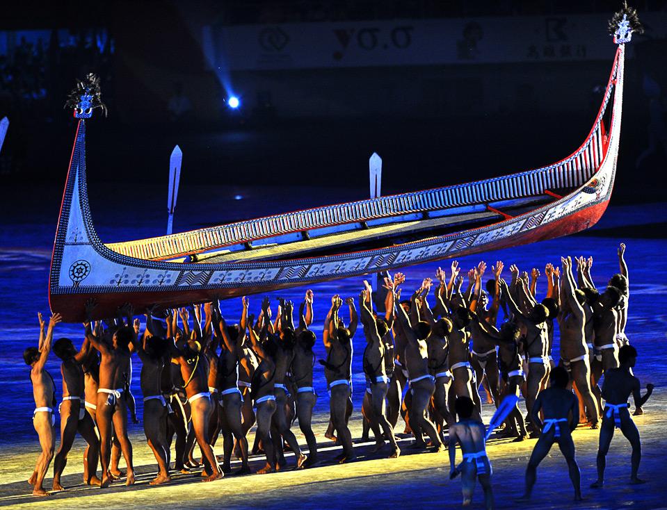 3) Тайванцы выступают на главном стадионе во время церемонии открытия Всемирных игр 16 июля.  (SAM YEH/AFP/Getty Images)