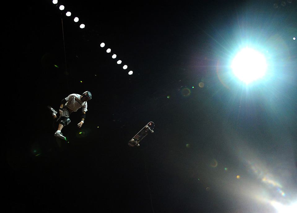 8) Энди МакДоналд тренируется перед выступлением в финале скейтборд биг эйр на 15-х «X Games», 30 июля, Лос-Анджелес, Калифорния. (Harry How/Getty Images)
