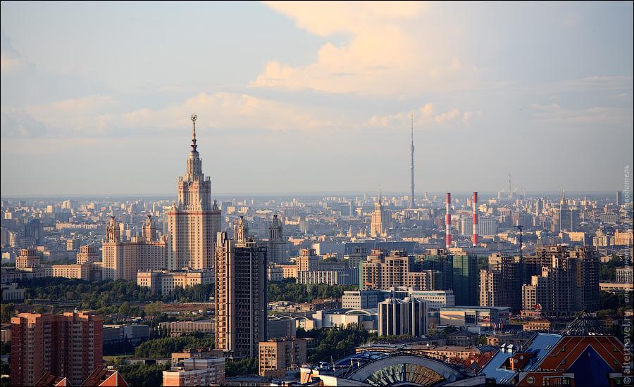 МГУ, Останкинская телебашня.