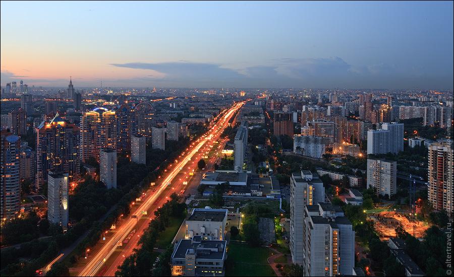 Ленинский проспект в центр.