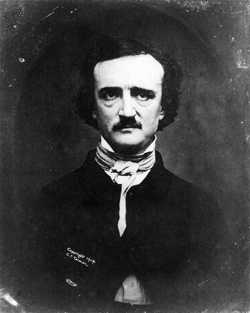 6) Эдгар Аллан По. По был эксцентричным автором, который выпустил, возможно, лучшие фантастические произведения. Кроме того, он сформировал «Закон По», в котором утверждалось, что стихи должны быть короткими, чтобы их возможно было прочитать на одном дыхании. Дата: 1848. Фотограф: W.S. Hartshorn.