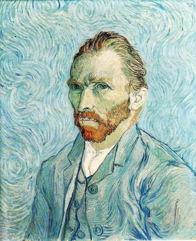 """21) Винсент Ван Гог. Винсент Ван Гог стал автором огромного количества работ, включая такие известные как """"Звёздная ночь"""". За свою жизнь Ван Гог написал немало автопортретов. Один из них «Автопортрет без бороды» был продан за.5 миллионов долларов. Дата: сентябрь 1889. Художник: Винсент Ван Гог"""