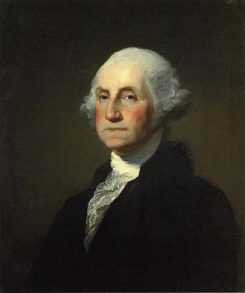 24) Джордж Вашингтон. Вашингтон был первым президентов США. Но прежде чем стать им, Вашингтону пришлось вести бои с англичанами, чтобы заставить их покинуть американские земли. Дата: неизвестна. Художники: Gilbert Stuart (1755–1828), Rembrandt Peale (1778–1860).