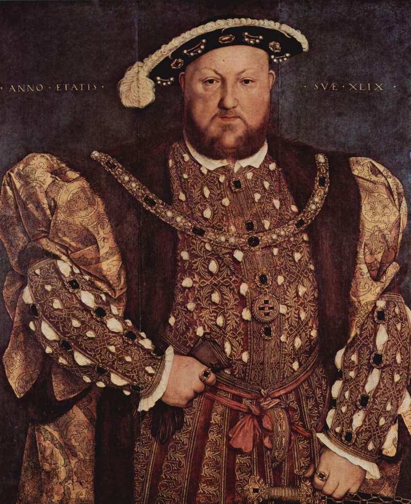 26) Генри VIII. Ни об одном английском короле не ходила такая дурная слава, как о Генри VIII. Он создал ныне так называемую, англиканскую церковь только для того, чтобы развестись со своей первой женой, так как Папа Римский не дал своего благословения на развод. Ханс Холбейн младший был придворным художником Генри VIII, но в основном рисовал не самого короля, а его жен. Многие портреты Генри VIII были созданы по примеру работ Ханса Холбейна, а некоторые даже ошибочно приписываются его кисти. Дата: 1536. Художник: Hans Holbein The Younger.