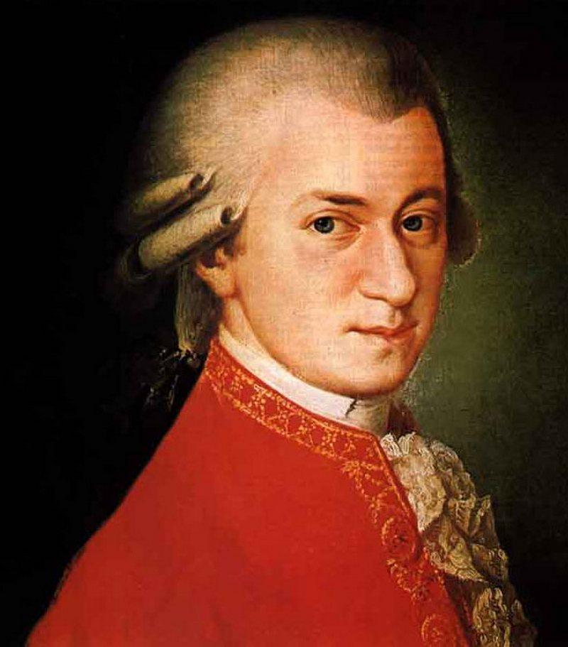 29) Вольфганг Амадей Моцарт. Моцарт сочинил почти 600 музыкальных произведений, включая «Волшебную флейту». Он начал сочинять в возрасте пяти лет. Дата: 1819. Художник: Barbara Krafft.