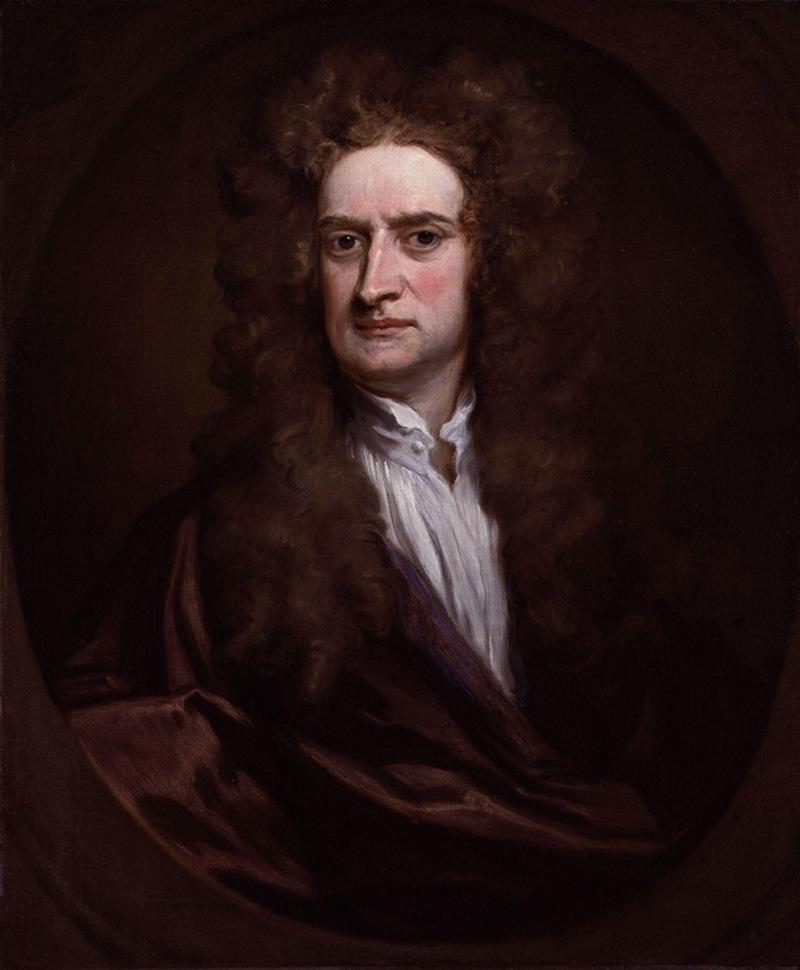 31) Сэр Исаак Ньютон. Ньютон кроме других своих заслуг считается отцом всей современной науки. Всемирное тяготение и три закона движения это только лишь две его основные теории. Кроме того, он изобрел первый в мире телескоп-рефлектор. Дата: 15-16 вв. Художник: Sir Godfrey Kneller.