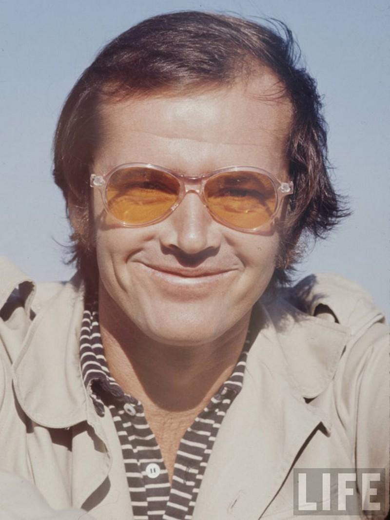 32)  Джек Николсон. Джек Николсон известен по ролям различных психопатов в таких фильмах как: «Пролетая над гнездом кукушки» и «Сияние». Дата: неизвестна. Фотограф: Arthur Schatz.