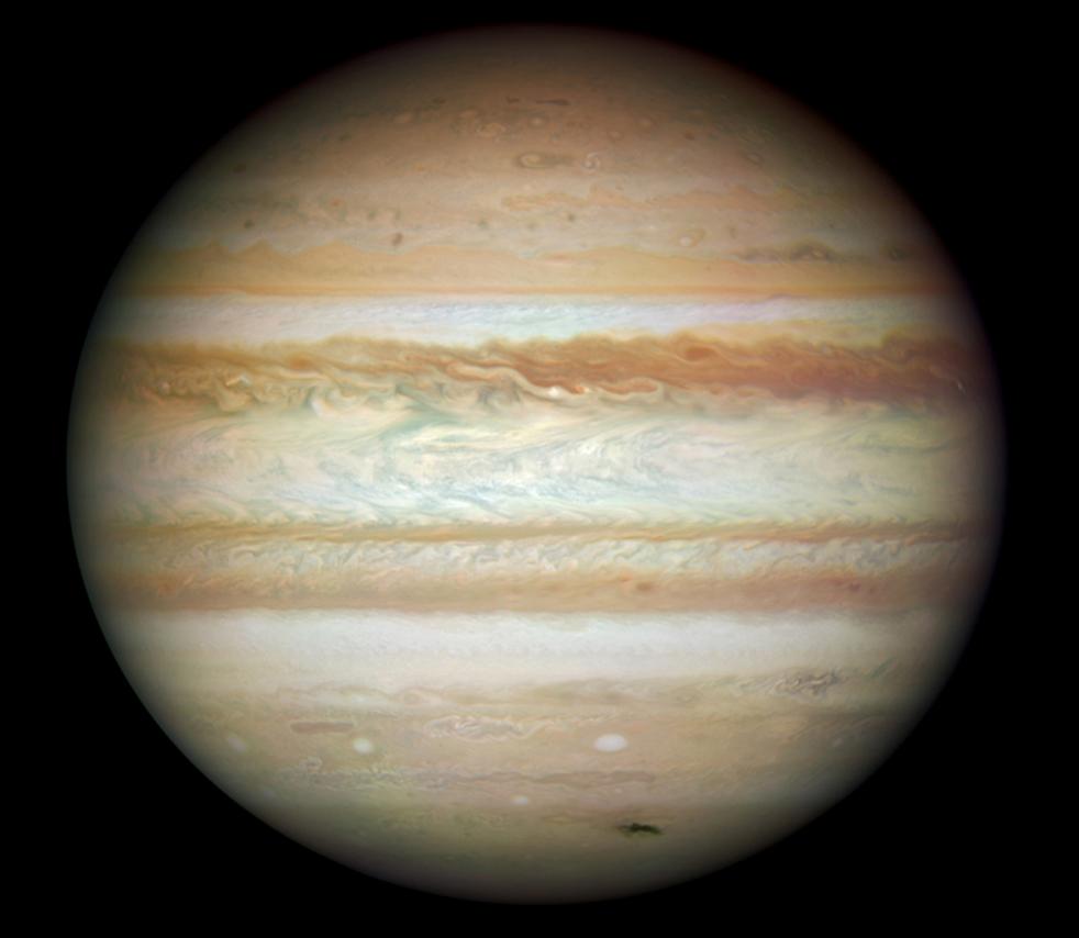 5. Снимок планеты Юпитер, сделанный обновленным космическим телескопом Hubble и опубликованный NASA в среду 9 сентября. (NASA)