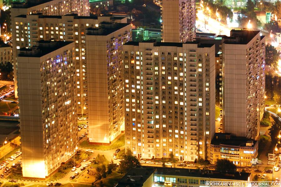 8) Вечерняя Москва с 50-го этажа