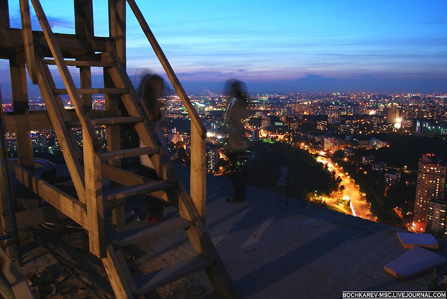 14) Вечерняя Москва с 50-го этажа