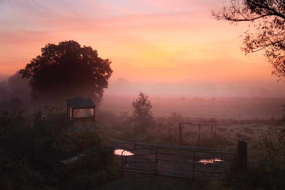 3. Старый трактор стоит в поле на фоне поднимающегося солнца в Сомерсет Левелс 13 октября недалеко от Гластонбери, Англия. В данный момент Англия, особенно на юге, наслаждается сухой прекрасной погодой, любуясь насыщенными цветами осенней листвы. (Getty Images / Matt Cardy)