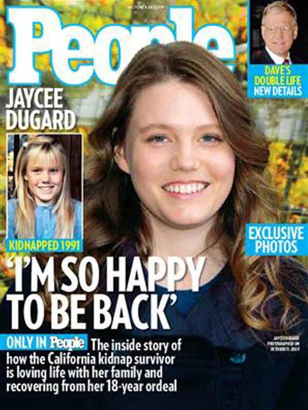 1. В среду журнал «People» впервые опубликовал фотографии взрослой Джейси Дугард. Уже 29-летняя Дугард была найдена два месяца назад после того, как ее похитили и продержали в неволе 18 лет. В интервью журналу «People» она сказала, что рада, наконец, вернуться домой к своей семье. (People)