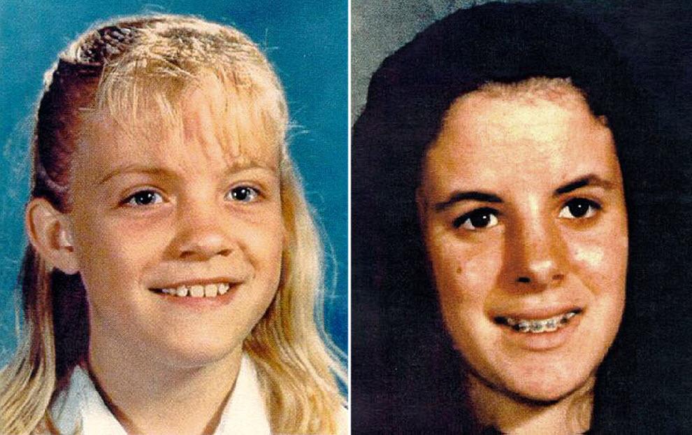 14. Полиция прочесала дом Гарридо в поисках улик, связанных с исчезновением еще двух девочек. 9-летняя Микаэла Гарехт (слева) была похищена у супермаркета в 1988 году. 13-летняя Илен Мишелофф (справа) исчезла в 1989 году. Ни одна из них так и не была найдена. (Texas Department of Public Safety)