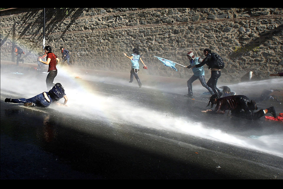 APTOPIX TURKEY WORLD ECONOMY PROTEST