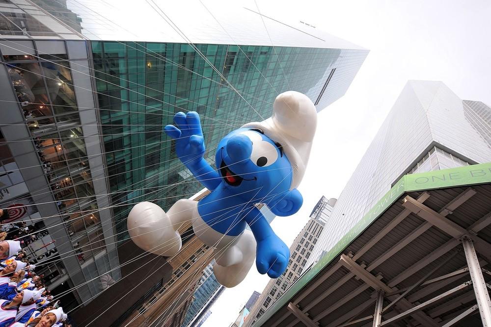 5) Гном Смурф во время традиционного парада на День Благодарения в Нью-Йорке 26 ноября 2009. (Michael Loccisano/Getty Images)