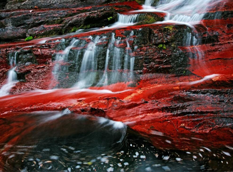 3. Богатые железом скалы образуют небольшую ржаво-красную бухту для быстротекущих вод в Национальном парке Альберты. Канадский парк лежит прямо на международной границе с Национальным ледниковым парком Монтаны. (Michael Melford)