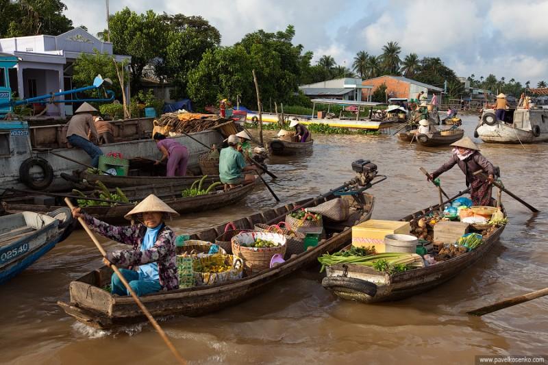 Плавучие рынки в Танкхо