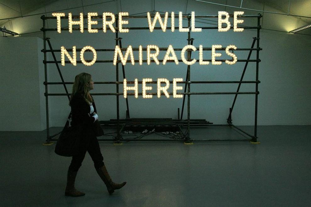 11. «Здесь не будет чудес» Натана Коли была номинирована на премию Turner Prize в 2007 году. Эта премия чествует достижения выдающихся художников, живущих и работающих в Великобритании. (Christopher Furlong/Getty Images)