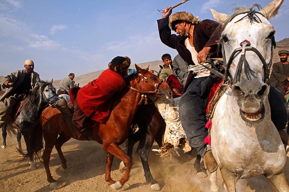 1) Согласно информации на сайте «Afghanistan Online», лошади, принимающие участие в бузкаши, также должны пройти тренировку. (Majid Saeedi/Getty Images)