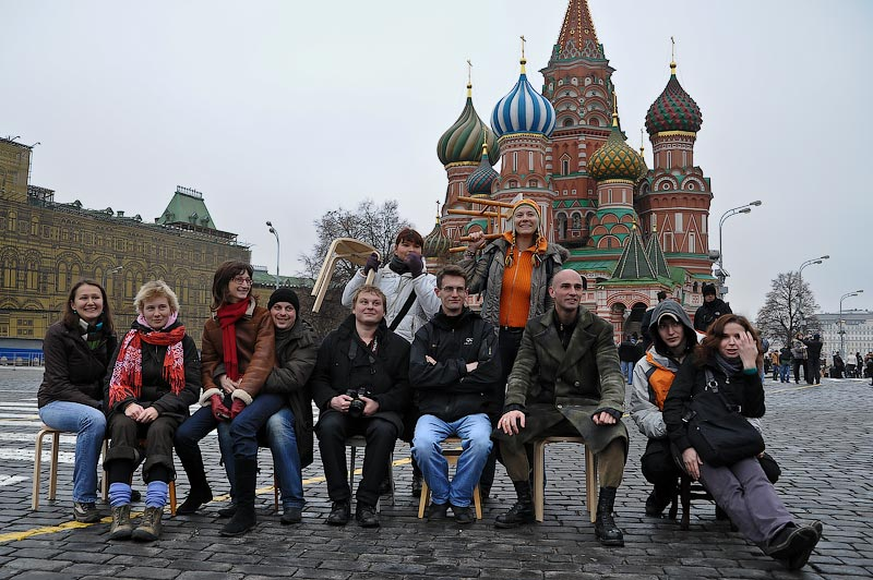 Флэшмоб на Красной площади