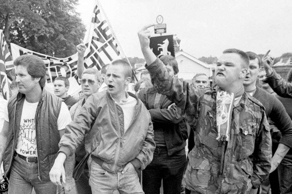 22. Митинг организации «Национальный фронт» под названием «Сохраним Мэйдстоун белым». (David Hoffman)