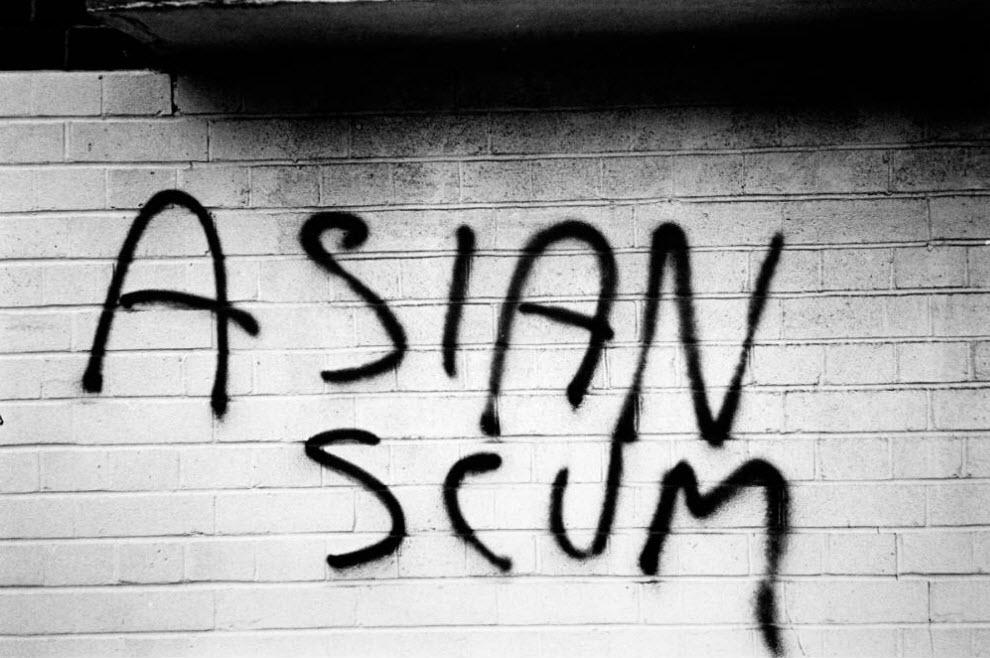 36. Расистское граффити в Тауэрс Хэмлетс, Лондон. (David Hoffman)